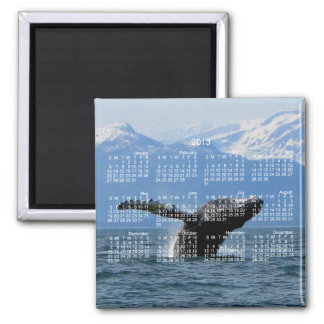 Whale Playtime; 2013 Calendar Magnets