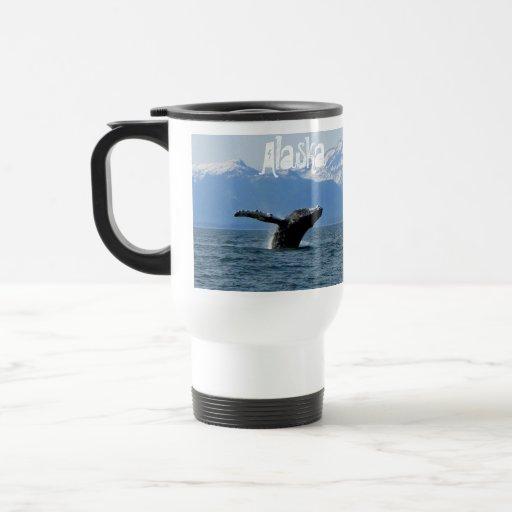 Whale Playtime; Alaska Travel Mug