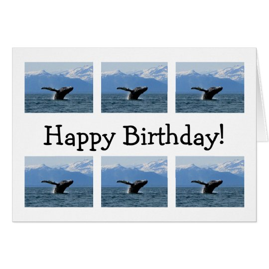 Whale Playtime; Happy Birthday Card