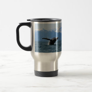 Whale Playtime; No Text 15 Oz Stainless Steel Travel Mug
