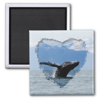 Whale Playtime; No Text Refrigerator Magnets