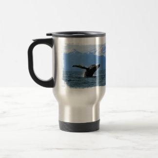 Whale Playtime; No Text Travel Mug