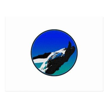 Beach Themed Whale Postcard