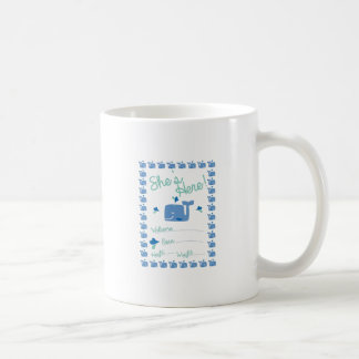 Whale Pregnancy Announcement Classic White Coffee Mug