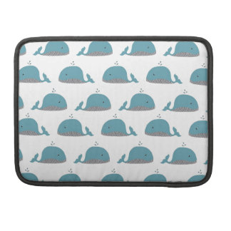 Whale Print Sleeves For MacBooks