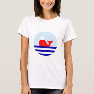 Whale Print Nautical Style T-shirt