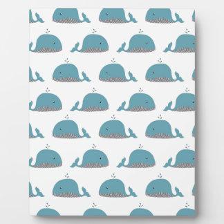 Whale Print Plaque