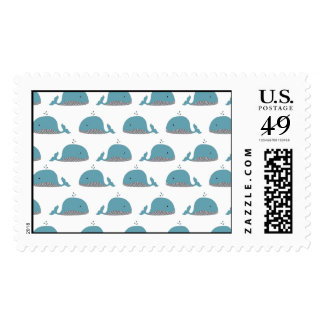 Whale Print Postage Stamps