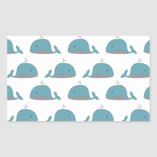 Whale Print Stickers