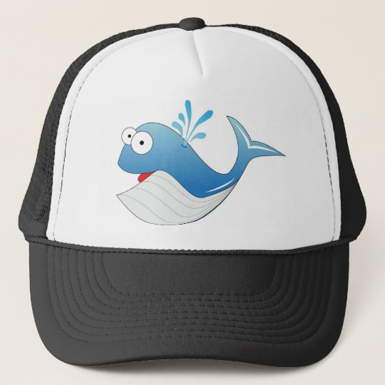 Whale products trucker hat