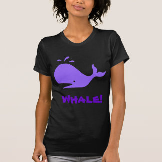 Whale! Purple. Customizable Tshirt