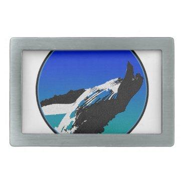 Beach Themed Whale Rectangular Belt Buckle