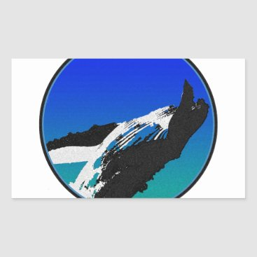 Beach Themed Whale Rectangular Sticker
