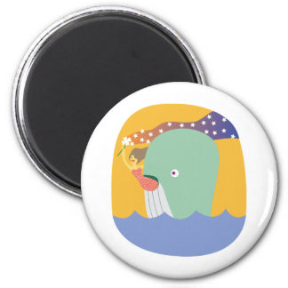 whale ride 2 inch round magnet