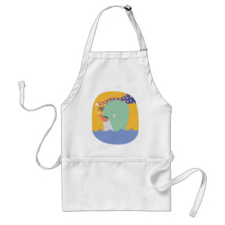 whale ride adult apron