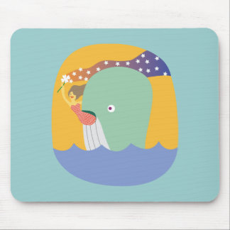 whale ride mouse pad