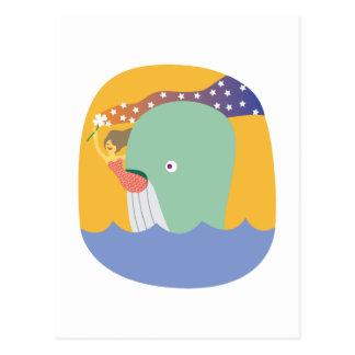 whale ride postcard