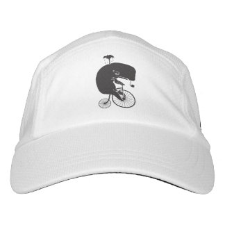 Whale Rider on Vintage Penny Farthing Bike Hat
