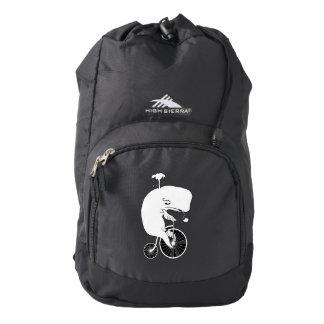 Whale Riding a Bike Backpack