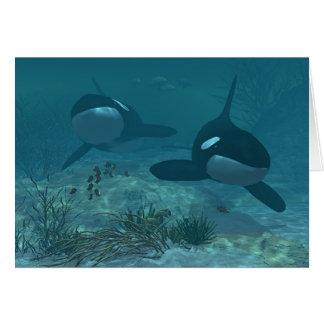 Whale Scene Greeting Card