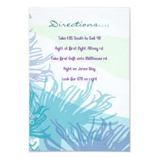 Whale & Sea Life Bat Bar Mitzvah Direction Card Personalized Invites