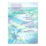 "Whale & Sea Life Bat Bar Mitzvah Invitation 5"" X 7"" Invitation Card"
