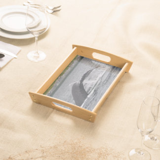 whale serving tray