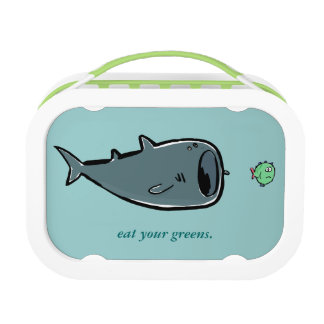 whale shark and small fishes lunch box