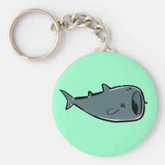 whale shark basic round button keychain