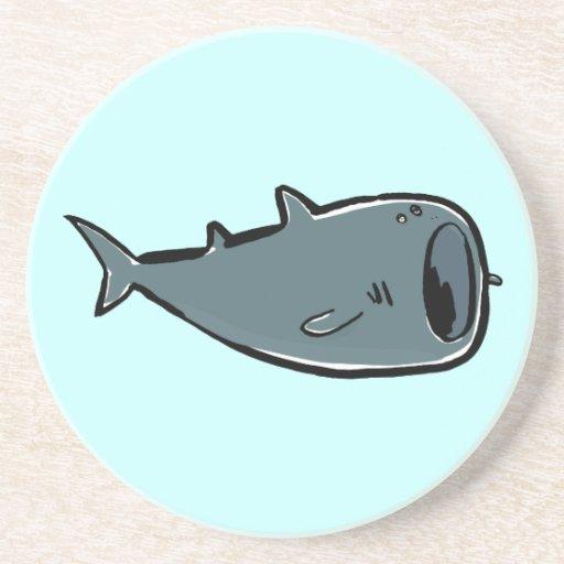 whale shark beverage coasters