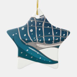 Whale shark Double-Sided star ceramic christmas ornament
