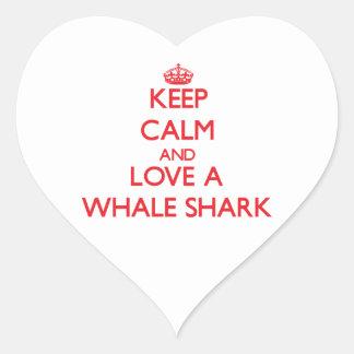 Whale Shark Heart Sticker
