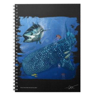 Whale Shark in the deep blue notebook. Notebook