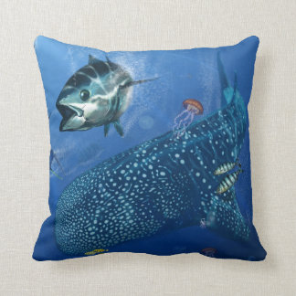 Whale Shark in the deep Cussion Pillow