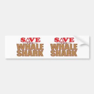 Whale Shark Save Bumper Sticker