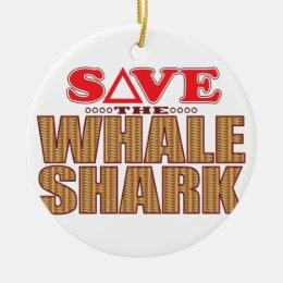 Whale Shark Save Ceramic Ornament