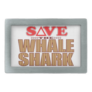 Whale Shark Save Rectangular Belt Buckle