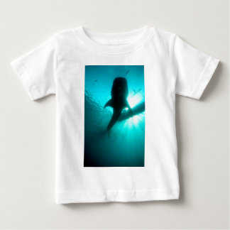Whale shark silhouette baby T-Shirt