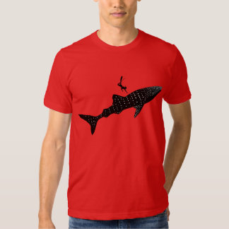 Whale shark swimming - white back signage t shirt