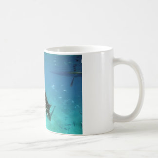 Whale sharks feeding coffee mug