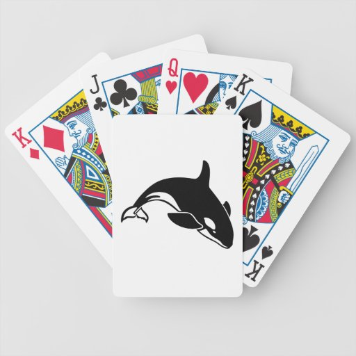 Whale Silhouette Bicycle Poker Cards