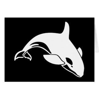 Whale Silhouette Card