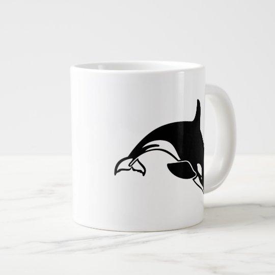 Whale Silhouette Giant Coffee Mug