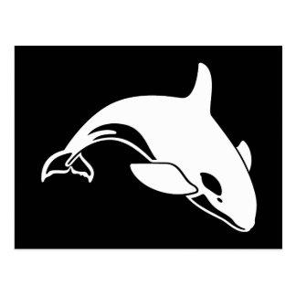 Whale Silhouette Postcard
