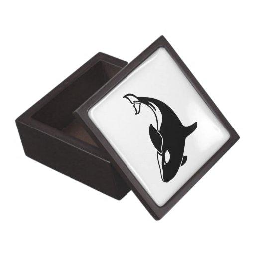 Whale Silhouette Premium Trinket Boxes
