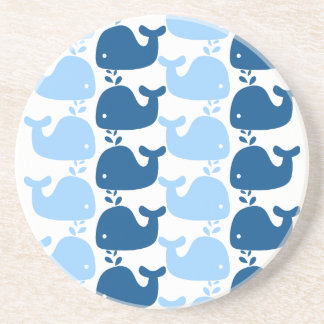 Whale Silhouette Print Coaster