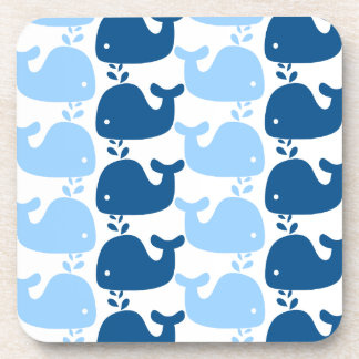 Whale Silhouette Print Cork Coaster