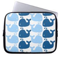 Whale Silhouette Print Electronics Bag
