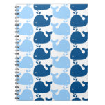 Whale Silhouette Print Notebook