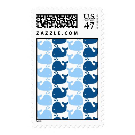 Whale Silhouette Print Postage